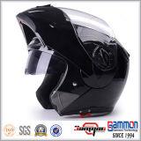 二重バイザー(LP508)が付いているオートバイのヘルメットの上の点フリップ