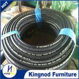 Boyau hydraulique en caoutchouc de rondelle de pression d'eau chaude de boyau de pétrole de la Chine de résistance de tresse à haute pression de fil d'acier