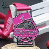 Médailles courantes de trophée de sports de bâti de marathon fait sur commande en alliage de zinc antique en métal