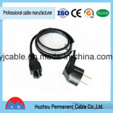 Европейский круглый электрический шнур выдвижения с шнуром питания штепсельной вилки 3 Pin