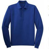 ブランク明白なメンズ長い袖のポロシャツ