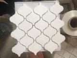 Mattonelle di mosaico barrocco di Arabesque a forma di bianco della lanterna di Carrara