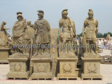 Высекающ каменную мраморный статую скульптуры для украшения сада (SY-X1576)