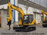 Excavatrices de chenille de position de Shandong 8.5ton/0.5cbm avec le foret de Rotory