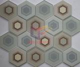Mosaico di vetro di pavimentazione freddo della stanza da bagno di figura di esagono della miscela di ceramica (CFC661)