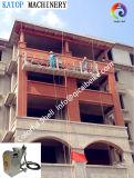 La villa à extrémité élevé, construction de construction de mur décorent la machine de jet d'enduit