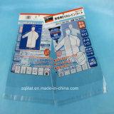 O material transparente de BOPP veste o saco plástico do encabeçamento com autoadesivo