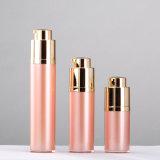 bouteille en plastique privée d'air de empaquetage de pompe de lotion de rotation de produit de beauté de Skincare de rose d'or de 15ml 30ml 50ml