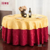 Tablecloth redondo do jacquard do casamento