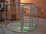 Escadaria do vidro da alta qualidade e do aço inoxidável/escadaria espiral de vidro/escadaria com passo de vidro