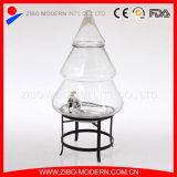 Eindeutiges Entwurfs-Weihnachtsbaum-geformtes Glasgetränkezufuhr-Glas