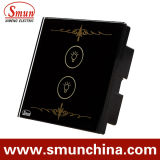 2 Lamp noir Key Touch Switch pour Wall, Home Smart Remote Control Switches
