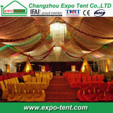 装飾の中の贅沢が付いているインドの結婚式のテントホール