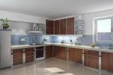 Белизна и Countertop конструкции кухни Blacknano стеклянный