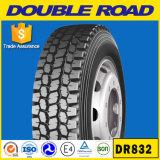 Os pneumáticos sem câmara de ar 11r24.5 do caminhão dos tipos chineses dos pneus abrem o ombro