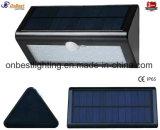 Éclairage LED solaire de la lumière 4W de mur de ventes chaudes avec le détecteur de mouvement