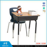 China High Quality Adult School Desk / Single Student Desk and Chair