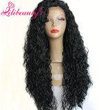 Скручиваемости человеческих волос Remy парики 100% человеческих волос шнурка бразильской Kinky Silk верхние полные