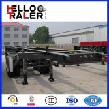 2 árbol 35 Ton los 20FT Truck Container Chassis/Skeleton Trailer