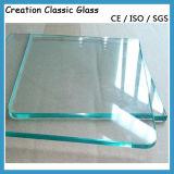 glace Tempered claire de 3.2mm pour la glace en verre de douche/construction avec du ce