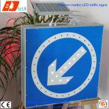 Panneaux de signalisation de triangle lumineux à énergie solaire, signal de circulation LED