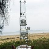 De dubbele Rokende Waterpijpen van het Glas van de Stijl van de Werveling Rechte Nieuwere (S-GB-283)