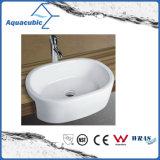 Dispersore di lavaggio del Governo del bacino di ceramica di arte e della mano superiore di vanità (ACB8013)