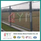 Panneaux utilisés galvanisés de frontière de sécurité enduits par Fence/PVC de maillon de chaîne de maillon de chaîne