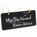 Прямоугольная доска черноты Chalkboard с шнуром, штангой, Pub, домом, рождеством, днем рождения