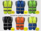 Veste en jaune à haute visibilité Veste de sécurité bleue Veste réfléchissante en polyester réfléchissant en polyester