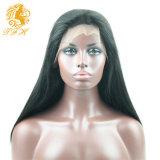Cabello humano 7A pelucas llenas del cordón brasileño de la Virgen del pelo recto del frente del cordón Humanos pelucas de pelo para las mujeres negras con el pelo del bebé libre de la Parte