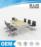 Mesa de madeira nova da conferência da tabela de reunião do projeto 2016