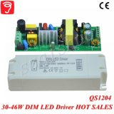 programa piloto Dimmable de 30-46W 0-10V LED con Ce