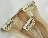 Piano Color Clip in Hair Extensions Remy europeo Human Hair