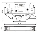 3kv Isolation를 가진 DIN Rail Loop Powered 4-20mA Converter