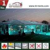党イベントの装飾が付いている空気調節の結婚式のテント
