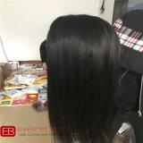 Weave do fechamento do laço com cabelo humano brasileiro de 100%