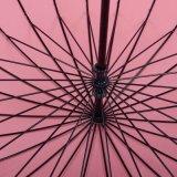 Зонтик автомобиля способа 24k прямо открытый с нервюрами стеклоткани