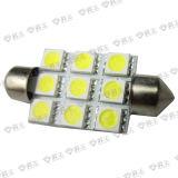 Luz auto auto del adorno 9SMD de los bulbos/39m m de la iluminación/LED del LED