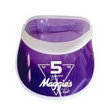 Transparente Sun Masken-Schutzkappe kundenspezifische purpurrote Farbe Belüftung-
