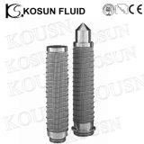 Cartuccia sinterizzata di filtro dell'aria di potere 5micron dell'acciaio inossidabile