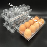 Surtidores plásticos de la bandeja del huevo del PVC del claro disponible de China para el huevo del pollo