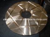 O triturador do cone parte as peças de bronze
