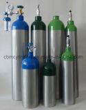 Cilindros de aluminio de 5 litros para las aplicaciones médicas del oxígeno
