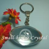 3D rugbi cristalino Keychain (ND3083)