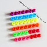 Talons desserrés colorés décoratifs en plastique de forme ronde pour le projet de métier (P161221A)