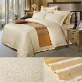 Lecho brillante del hotel de lujo del telar jacquar del satén del algodón fijado (DPFB80106)