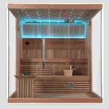 Red importado Cedar Solid Wood Sauna House Cabinet para Beauty