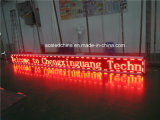 熱いSale Outdoor Red Single Color LED Moving Display Sign (4800mm * 320mm)