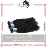 La armadura malasia del pelo de la Virgen lía el pelo rizado rizado malasio de la Virgen